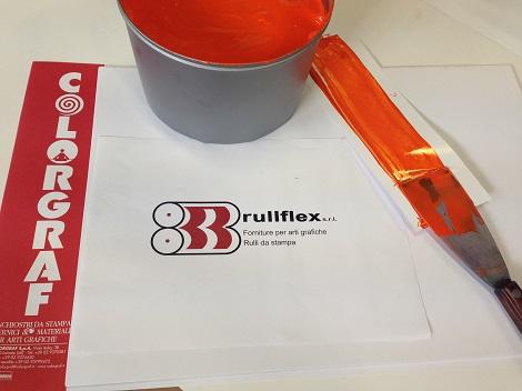 colore arancione Colori a Campione Prodotti Chimici arti Grafiche Rulli da stampa rulli industriali Fornitura inchiostri e vernici Fornitura consumabili arti grafiche