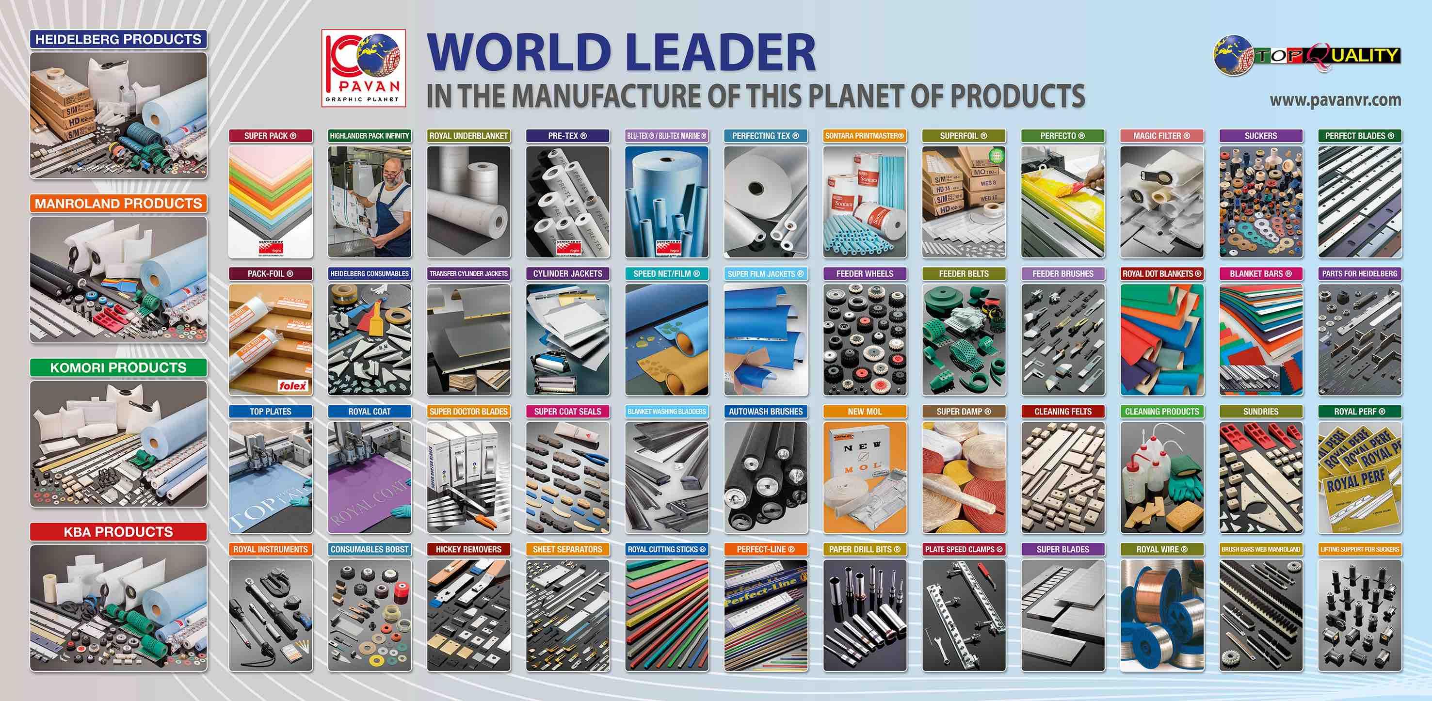 PAVAN spa Colori a Campione Prodotti Chimici arti Grafiche Rulli da stampa rulli industriali Fornitura inchiostri e vernici Fornitura consumabili arti grafiche